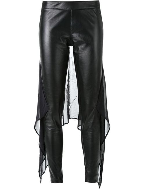 Gareth Pugh   Женское Чёрный Chiffon Panel Skinny Trousers
