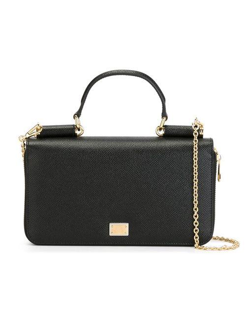 Dolce & Gabbana | Женская Чёрная Маленькая Сумка Через Плечо Miss Sicily