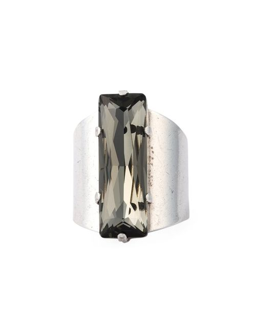 Philippe Audibert   Женское Серебристый Right Ring With Large Crystal