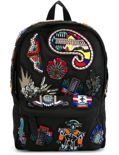 MSGM | Женское Чёрный Embellished Patch Backpack