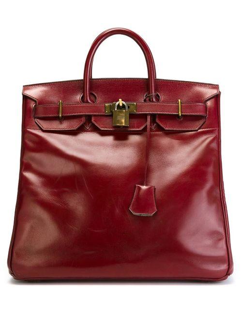 Hermès Vintage | Женская Красная Сумка-Тоут Haut-À-Courroie