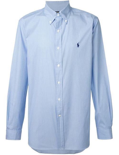 Polo Ralph Lauren | Мужская Синяя Рубашка В Тонкую Полоску