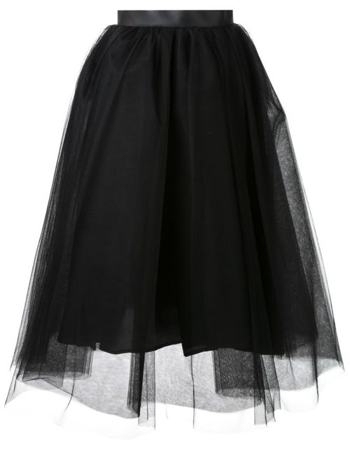 LE CIEL BLEU | Женское Черный Tulle Flared Skirt