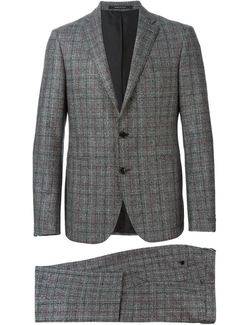 Tagliatore | Мужское Серый Checked Two Piece Suit