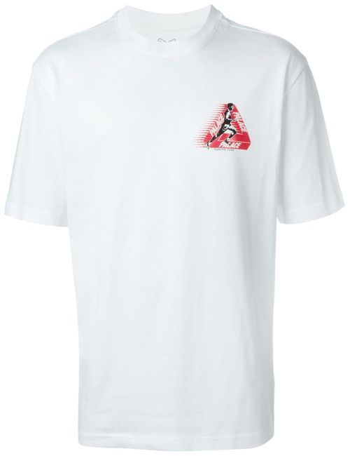 PALACE | Мужское Белый Back Logo Print T-Shirt