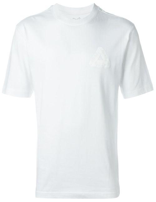PALACE | Мужская Белая Футболка С Принтом Логотипа Сзади