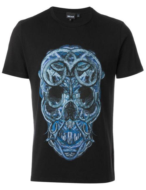 Just Cavalli | Мужское Чёрный Skull Print T-Shirt
