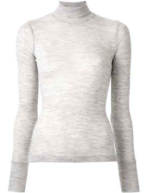 T By Alexander Wang | Женское Серый Ribbed Fine Knit Sweater
