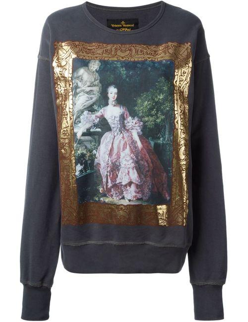 Vivienne Westwood Anglomania | Женская Серая Толстовка С Принтом В Стиле Барокко