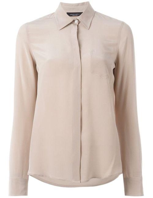 Roberto Collina | Женская Розовая Рубашка С Потайной Застежкой