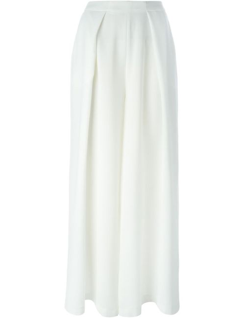 C/MEO | Женское Белый Wide Leg Pleated Trousers