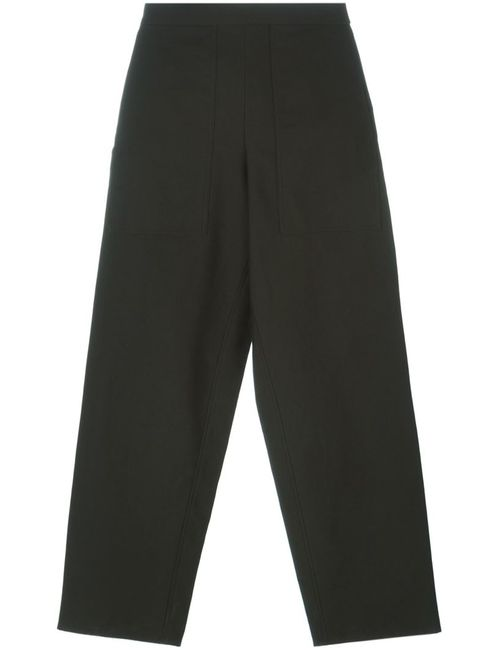 LEMAIRE | Женское Зелёный Cropped Wide Leg Trousers