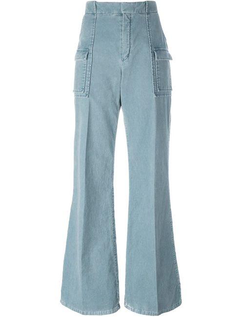 Chloe | Женское Синий Ribbed Velvet Trousers