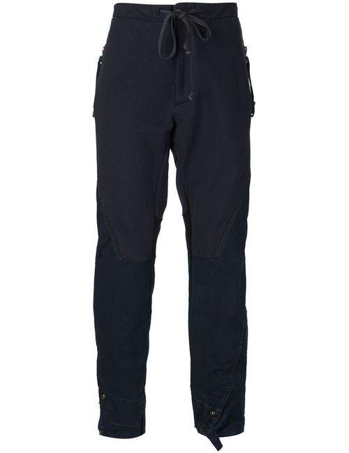 GREG LAUREN | Мужское Синий Mixed Fabric Trousers