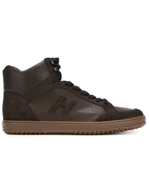 Hogan | Мужское Коричневый Hi-Top Lace-Up Sneakers