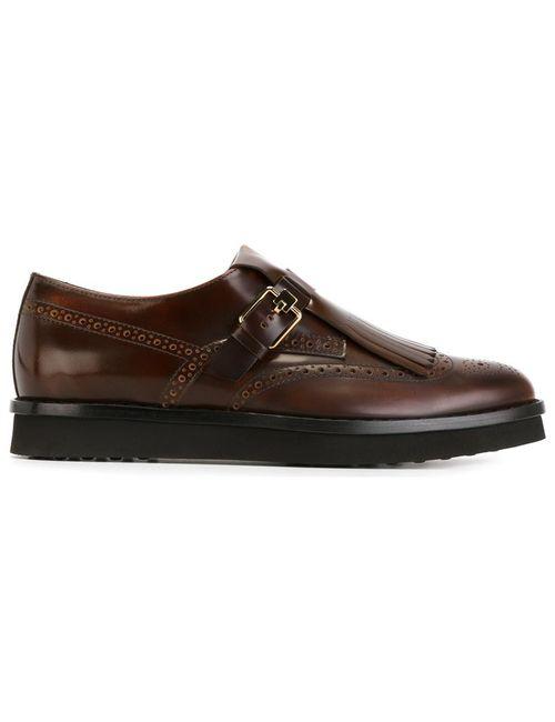 Tod'S | Женское Коричневый Brogue Detailing Monk Shoes