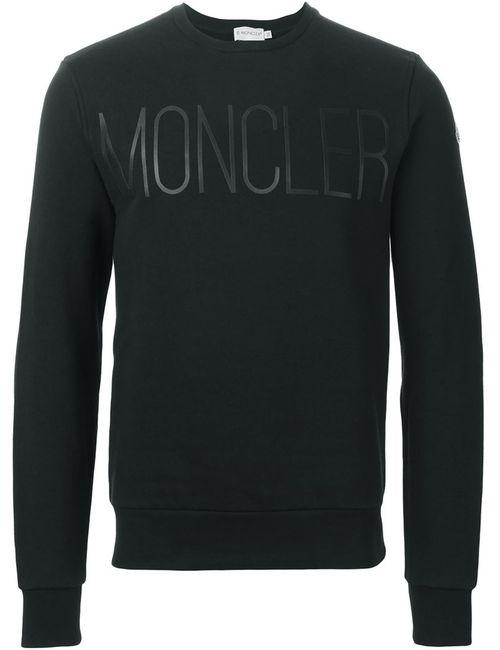 Moncler | Мужское Чёрный Logo Print Sweatshirt