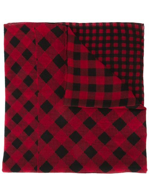 Woolrich   Женское Красный Checked Scarf