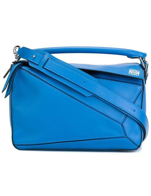 Loewe | Женская Синяя Сумка-Тоут Puzzle