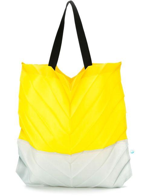 Issey Miyake Cauliflower | Женское Желтый Pleated Tote Bag