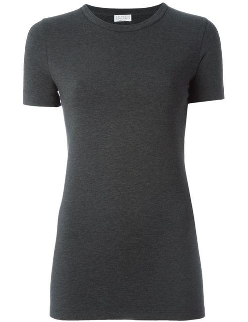 Brunello Cucinelli | Женское Серый Trimmed Collar T-Shirt