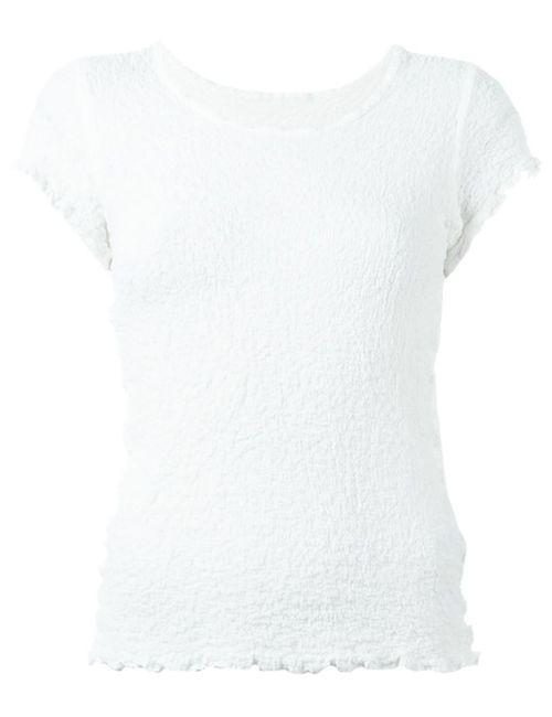 Issey Miyake Cauliflower | Женское Белый Textured T-Shirt