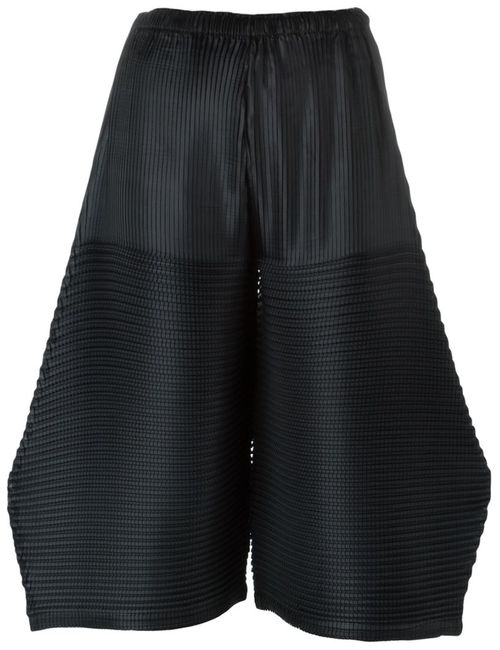 Issey Miyake Cauliflower   Женское Чёрный Pleated Wide Leg Cullotes