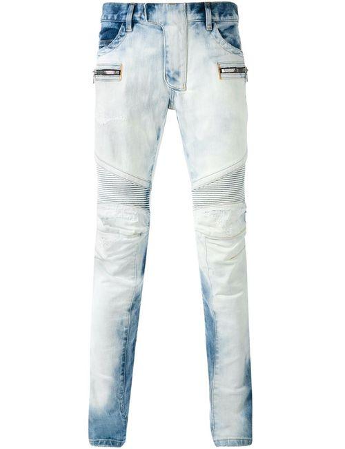 Balmain | Мужское Синий Bleached Biker Jeans