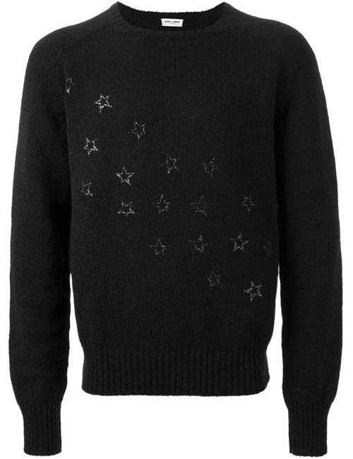 Saint Laurent | Мужское Чёрный Sequin Star Sweater