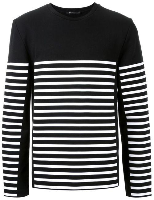 T By Alexander Wang | Мужское Чёрный Striped Sweater