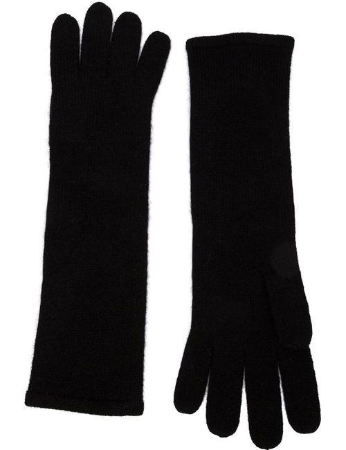RYAN ROCHE | Женские Чёрные Удлиненные Трикотажные Перчатки