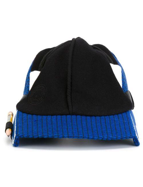 NASIR MAZHAR | Мужская Синяя Кепка С Квадратным Козырьком