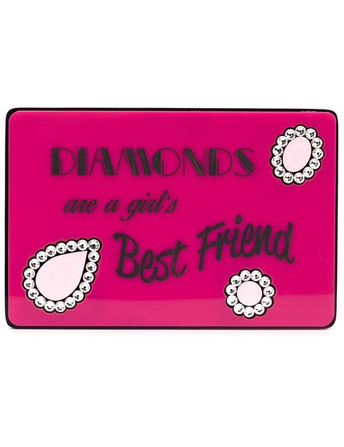 Yazbukey | Женское Розовый Diamonds Are A Girls Best Friend Clutch