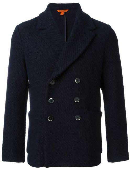 Barena | Мужское Синее Двубортное Пальто