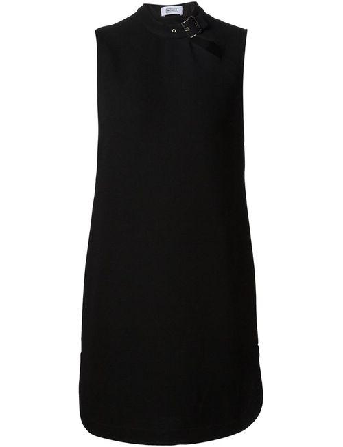 NOMIA | Женское Чёрное Платье С Пряжкой На Воротнике