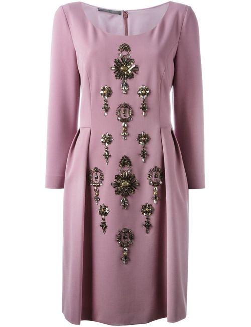 Alberta Ferretti | Женское Розовое Декорированное Платье