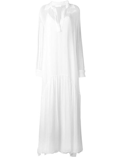 Chloe | Женское Белое Прозрачное Платье