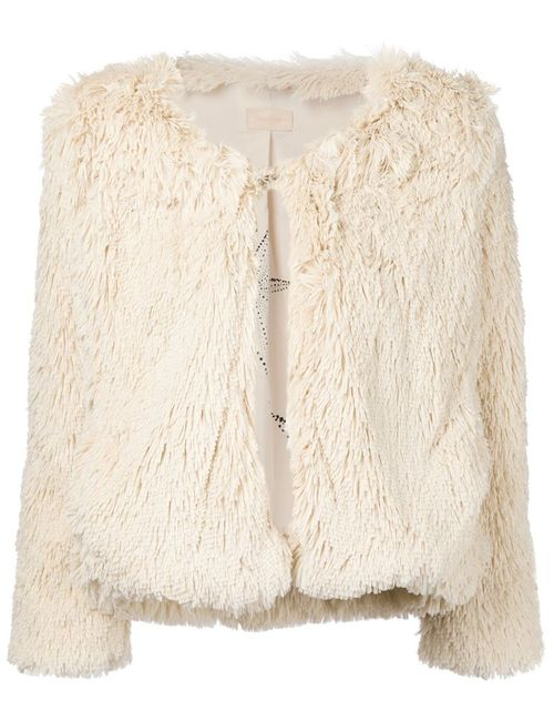Mother | Женское Белый Furry Boxy Jacket