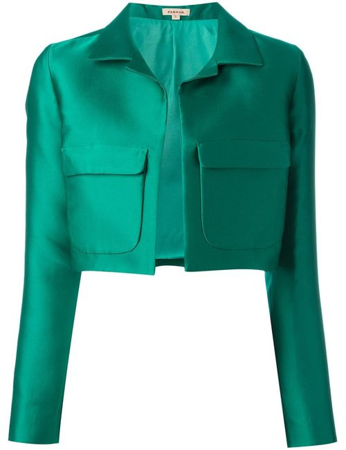 P.A.R.O.S.H. | Женский Зелёный Укороченный Пиджак