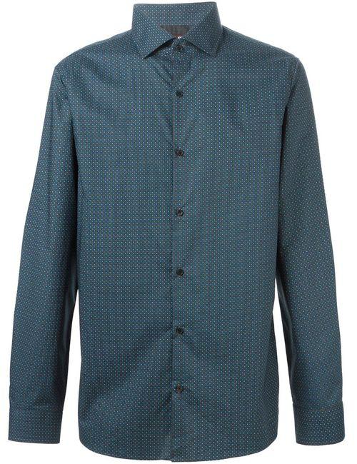 Michael Kors   Мужская Серая Рубашка С Мелким Узором