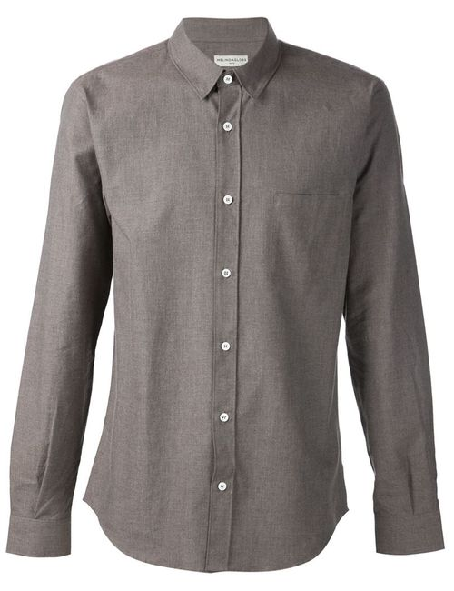 Melindagloss   Мужская Серая Рубашка С Нагрудным Карманом