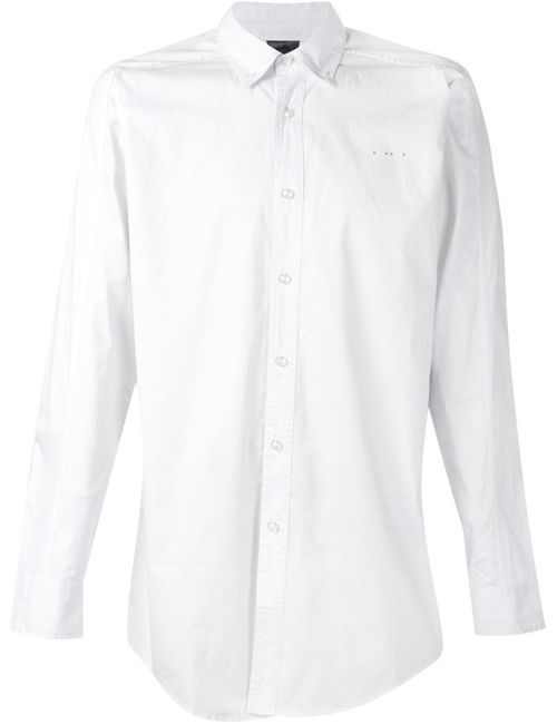 Publish | Мужская Белая Рубашка Fornax
