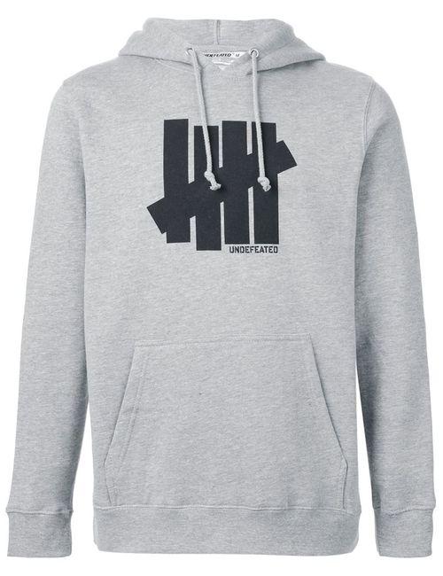 Undefeated | Мужское Серый Logo Print Hoodie