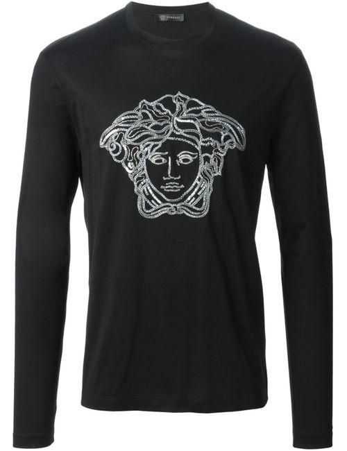 Versace   Мужское Чёрный Medusa Embroidered Sweatshirt