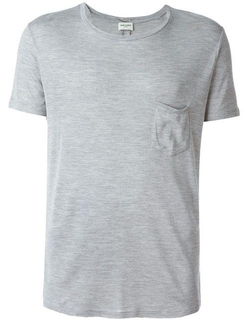 Saint Laurent | Мужское Серый Lightweight T-Shirt