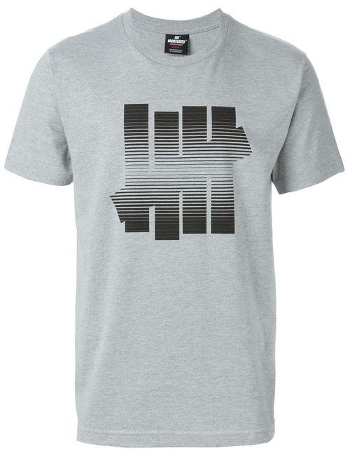 Undefeated | Мужское Серый Logo Print T-Shirt