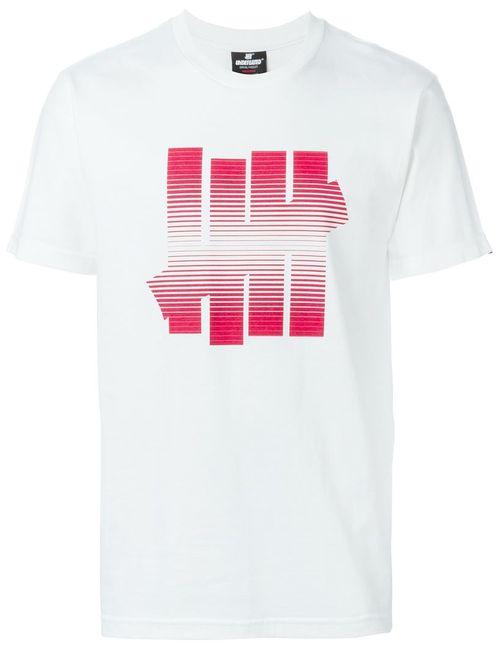 Undefeated | Мужское Белый Logo Print T-Shirt
