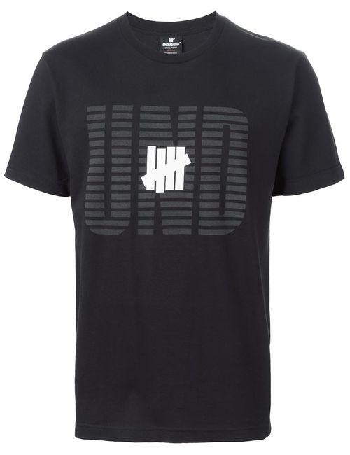 Undefeated | Мужское Чёрный Logo Print T-Shirt