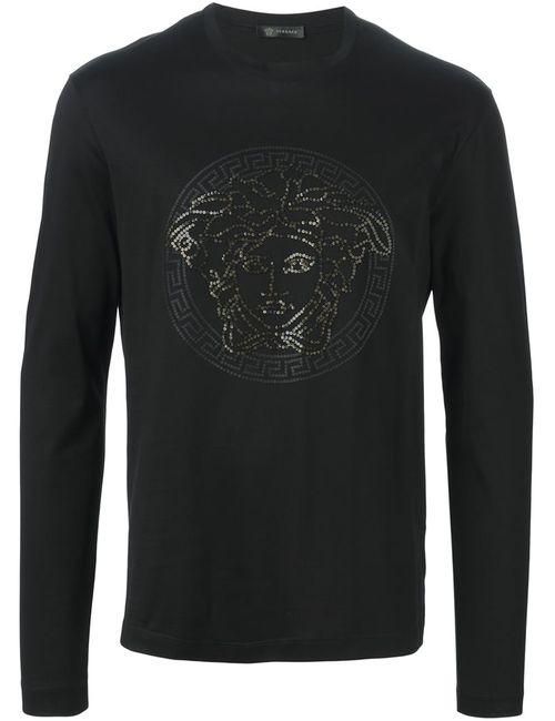 Versace | Мужское Чёрный Medusa Long Sleeve T-Shirt