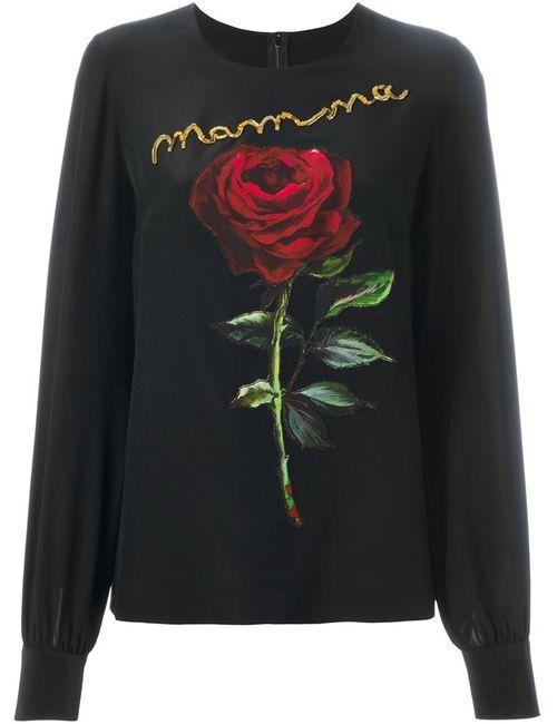 Dolce & Gabbana | Женское Чёрный Patch Blouse